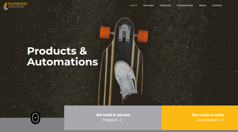 Elevation Consulting with new website