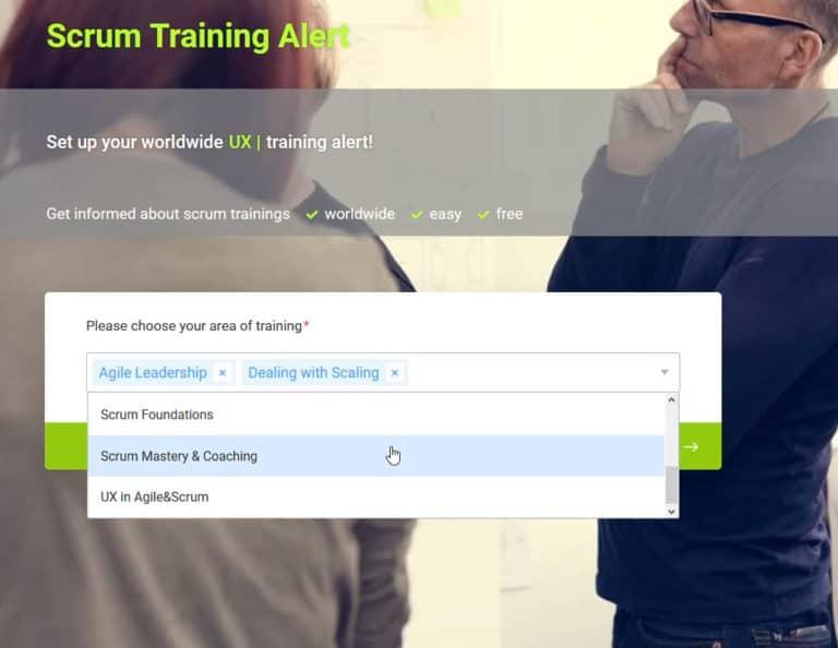 Scrum Training Alert
